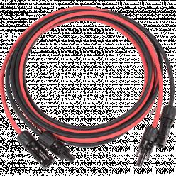 string solarkabel connectoren aangeperst