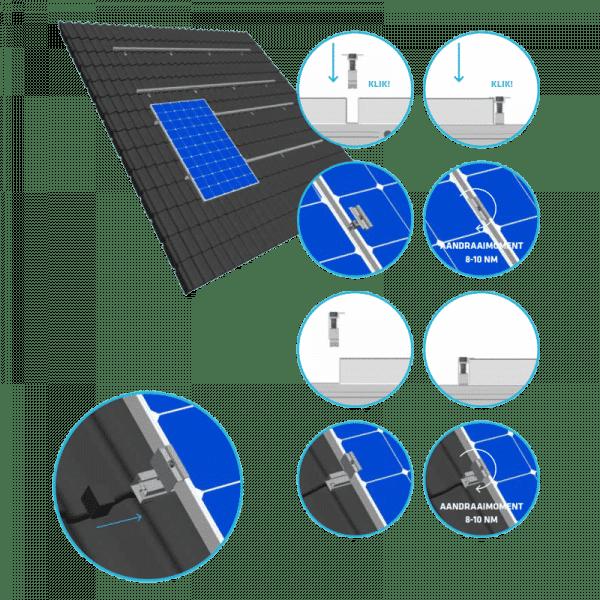 Solarstell easy klemmen plaatsen